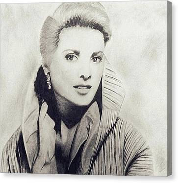 Grace Kelly Canvas Print by Sarah Mirza