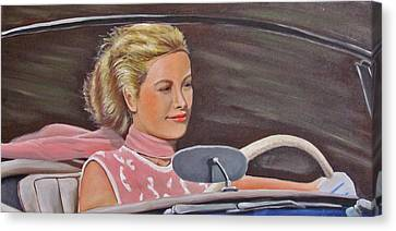 Grace Kelly - To Catch A Thief Canvas Print by Kevin Hughes