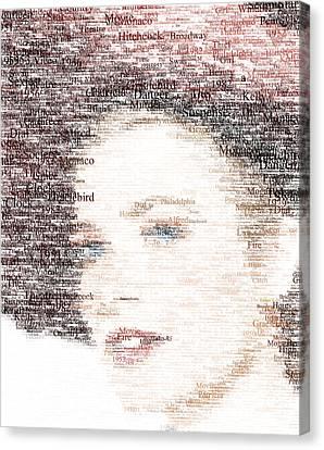 Grace Kelly Typo Canvas Print by Taylan Apukovska