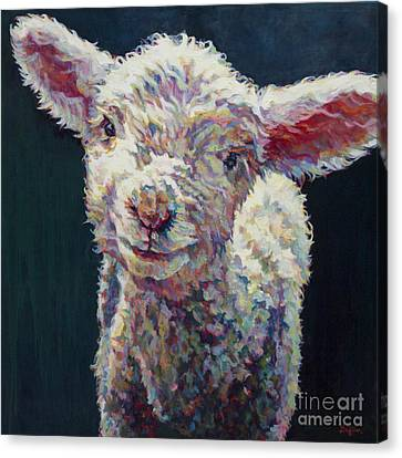 Lamb Canvas Print - Grace by Patricia A Griffin
