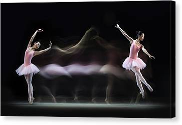 Graceful Balerina Canvas Print by Antonyus Bunjamin (abe)