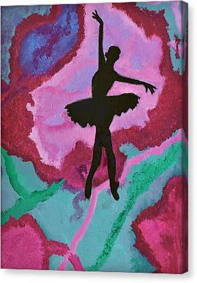 Dance Ballet Roses Canvas Print - Graceful Beauty by Margaret Harmon
