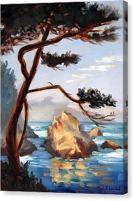 Whalers Cove Canvas Print - Graceful Pine Pt. Lobos by Karin  Leonard