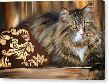 Graceful Sit Canvas Print by Lourry Legarde