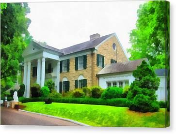 Graceland Mansion Canvas Print by Dan Sproul