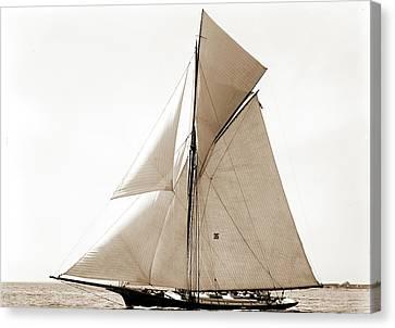 Gracie, Goelet Cup Race, Gracie Yacht, Goelet Cup Race Canvas Print by Litz Collection