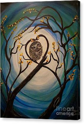 The Nature Center Canvas Print - Graciela Finds Her Heartsong by Kimberlee Baxter