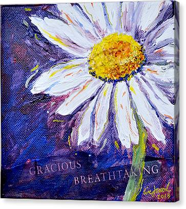 Gracious Daisy Canvas Print by Lisa Fiedler Jaworski