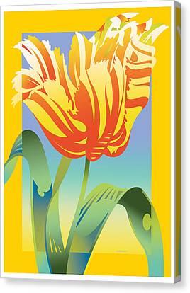 Gradient Parrot Canvas Print