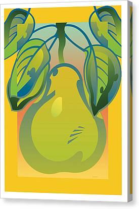 Gradient Pear Canvas Print