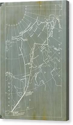 Graf Canvas Print - Graf Zeppelin Polar Flight Chart by Us Coast Guard