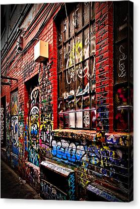Canvas Print featuring the photograph Graffiti Alley by James Howe