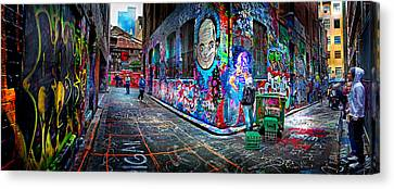 Graffiti Artist Canvas Print by Az Jackson