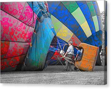 Graffiti Balloons Canvas Print by Betsy Knapp
