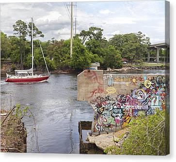 Graffiti Bridge Image Art Canvas Print