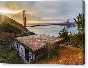 Afternoon Canvas Print - Graffiti By The Golden Gate Bridge by Sarit Sotangkur