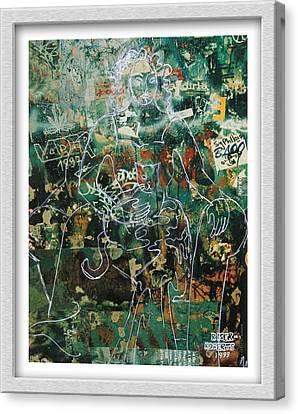 Graffiti Cat Canvas Print by Eve Riser Roberts