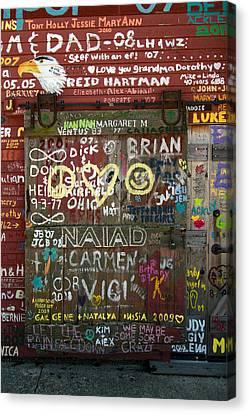 Graffiti Canvas Print by Chuck De La Rosa