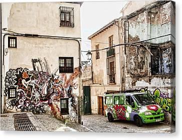 Graffiti City Canvas Print by Alicia Morales