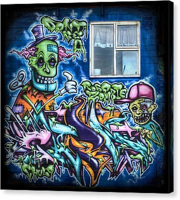 Graffiti City Canvas Print by Evelina Kremsdorf
