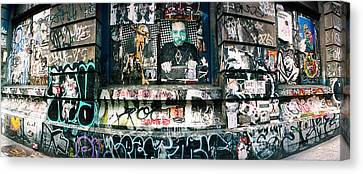Bowery Canvas Print - Graffiti Covered Germania Bank Building by Panoramic Images