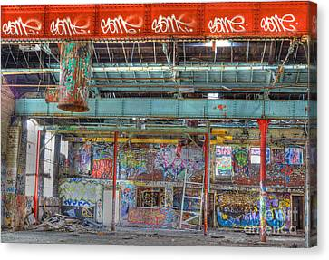 Graffiti Gallery Canvas Print by David Birchall