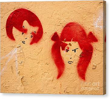 Graffiti Girls 02 Canvas Print by Rick Piper Photography