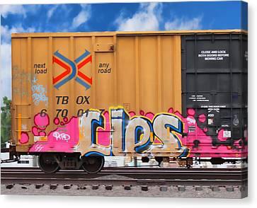 Graffiti - Lips Canvas Print