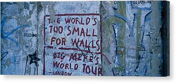 Graffiti On A Wall, Berlin Wall Canvas Print by Panoramic Images