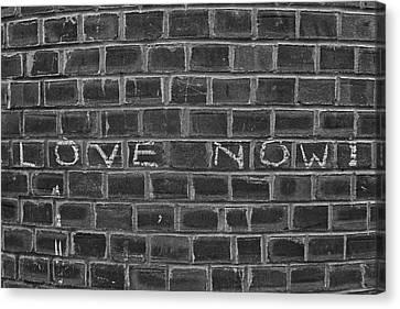 Graffiti On Curved Brick Wall Canvas Print by Robert Ullmann