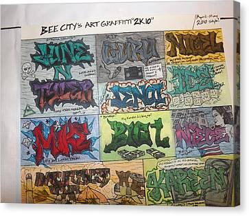 Graffiti Pt2 Canvas Print by Brandon Crawford