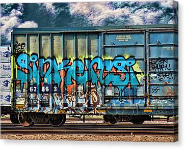 Dean Russo Canvas Print - Graffiti - Sinker by Graffiti Girl