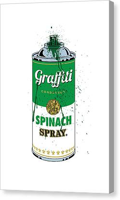 Graffiti Spinach Spray Can Canvas Print