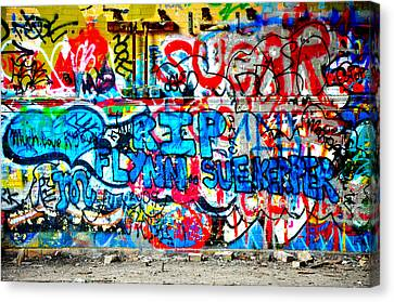 Graffiti Street Canvas Print by Bill Cannon