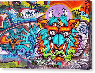 Concept Canvas Print - Graffiti Wall Art Tengu by EXparte SE