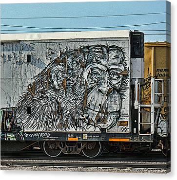 Dean Russo Canvas Print - Graffiti - Weathered  by Graffiti Girl