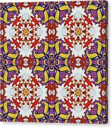 Graffito Kaleidoscope 40 Canvas Print