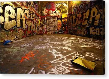 Grafitti Overflow Canvas Print