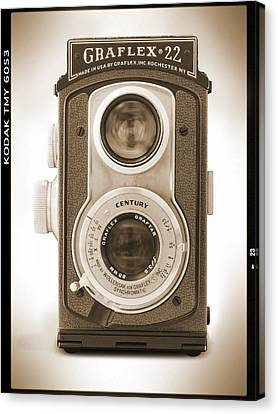 Classic Camera Canvas Print - Graflex 22 Camera by Mike McGlothlen