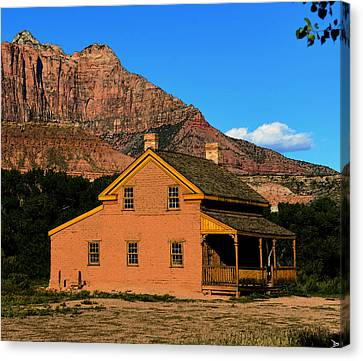 Southern Utah Canvas Print - Grafton Utah 1866 by David Lee Thompson
