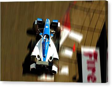 Graham Rahal Indy Racer Canvas Print by Denise Dube
