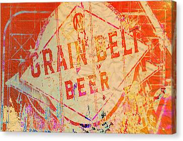 Grain Belt Beer Abstract Canvas Print