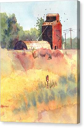 Grain Elevator Canvas Print by Kris Parins