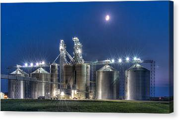 Grain Processing Plant Canvas Print