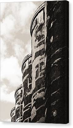 Grain Silos Canvas Print by Arkady Kunysz