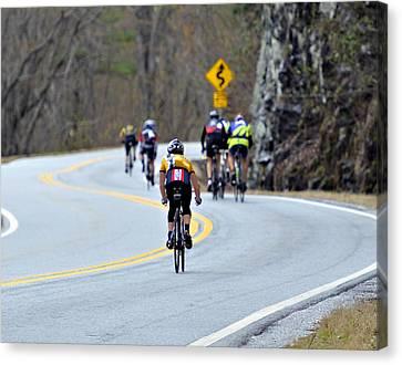 Gran Fondo Bike Ride Canvas Print by Susan Leggett