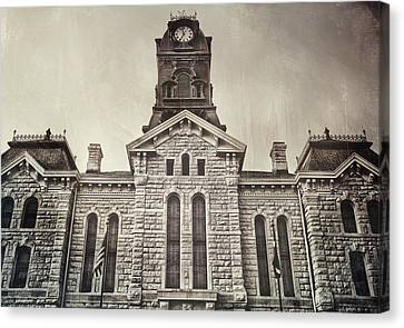 Granbury Courthouse Canvas Print by Pair of Spades
