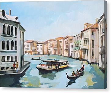 Painter Canvas Print - Grand Canal 2 by Filip Mihail