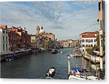 Canvas Print featuring the photograph Grand Canal In Venice by Cendrine Marrouat