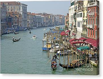 Grand Canal Viewed From Rialto Bridge Canvas Print by Sami Sarkis